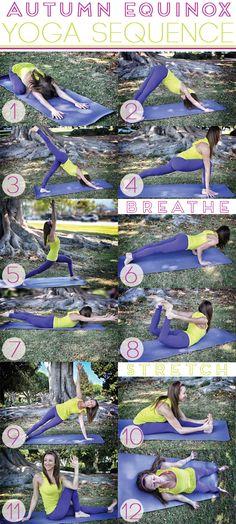 Fall Yoga Sequence via WELL in L.A. - featuring yoga teacher @Erin B B B B B B B B B Grossman.