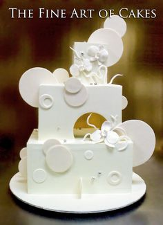 Modern Wedding Cake.  Turn into birthday cake with different color scheme.
