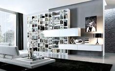 parete attrezzata soggiorno moderna CROSSING MECR047 by M.Lipparini MisuraEmme