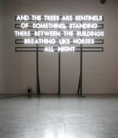 Typographic Installations are Solar Powered Poetry - My Modern Metropolis. By Robert Montgomery