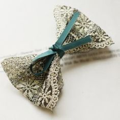 Sweet Style Lace Bowknot Embellished Hair Clip For Women