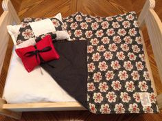 A personal favorite from my Etsy shop https://www.etsy.com/listing/192684885/doll-blanket-black-white-red-little