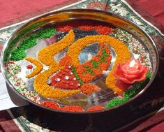 Aarti Thaali decoration for Ganpati pooja @TheRoyaleIndia