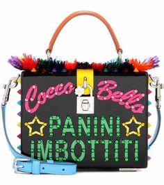 Dolce Box embellished leather shoulder bag   Dolce & Gabbana