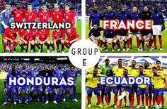 Ecuador, France, Honduras and Switzerland in 2014 World Cup Group E.