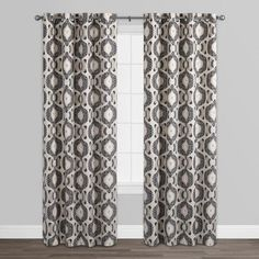 Brown and Gray Ashanti Grommet Top Curtains Set of 2 - Curtain Patterns, Window Drapes, Grommet Curtains, Curtain Sets, Brown And Grey, Gray, World Market, Window Treatments, Windows