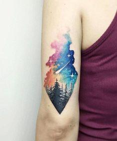 Tattoo ideas forest tattoos, nature tattoos, life tattoos, world map tattoo Tattoo Motive, Arm Tattoo, Sleeve Tattoos, Galaxy Tattoo Sleeve, Tattoo Ink, Galaxy Tattoos, Mandala Tattoo, Mini Tattoos, Body Art Tattoos