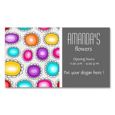 Colorful country flowers Business Card