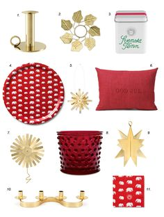 collage with christmas classics from svenskt tenn