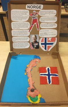 Norden i en pizzakartong! Tromso, Oslo, Social Studies, Montessori, Diy Projects, Kids Rugs, Teaching, Education, School