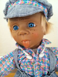 VINTAGE 15 inch D-Anton-Jos? Boy Doll With Tongue-Sticking Out