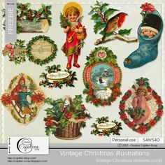 CAJOLINE-SCRAP: Freebie - Vintage illustrations (10)