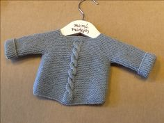 Knitting For Babies Baby Sweater Knitting Pattern, Baby Boy Knitting, Knit Baby Sweaters, Knitted Baby Clothes, Knitting For Kids, Baby Knitting Patterns, Baby Patterns, Baby Pullover, Baby Cardigan