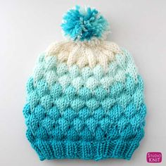 IN YOUR G DRIVE This Bubble Beanie Hat knitting pattern is my new favorite winter fashion accessory! My Bubble Knit Stitch Pattern became quickly popular, so I thought it would be great if I designed a hat that we can all knit up together this winter. Knitted Heart Pattern, Cable Knitting Patterns, Knitting Stitches, Free Knitting, Baby Knitting, Beanie Pattern, Crochet Pattern, Bobble Stitch, Yarn Tail