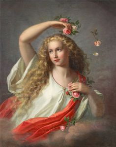 Allegory of Spring. Nathanael Schmitt (German, 1847-1918). Spring By William Shakesspeare When daisies pied and violets blue And lady-smocks all silver-white And cuckoo-buds of yellow hue Do paint the meadows with delight, The cuckoo then, on every...