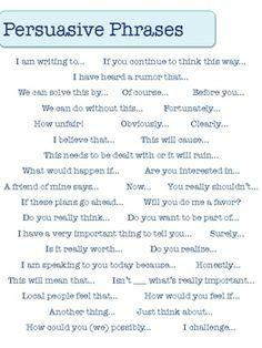 Persuasive Writing Words