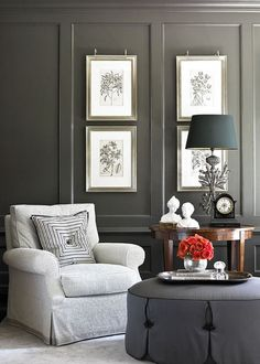 Love the painted paneling