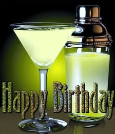 Happy Birthday - Wine - Champagne - Cocktail ►tint 1
