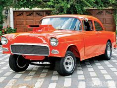 1955 CHEVROLET hot rod rods retro drag racing race gasser e Old School Muscle Cars, Chevy Muscle Cars, Classic Hot Rod, Classic Cars, Custom Trucks, Custom Cars, 1955 Chevy, 1955 Chevrolet, Old Race Cars