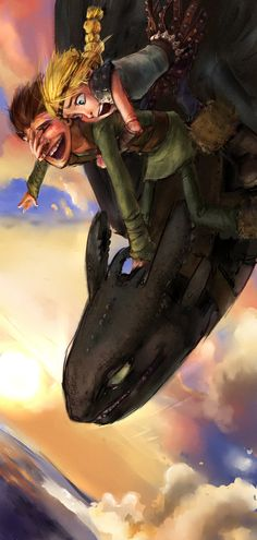 Astrid Goes for a Spin by tribute27.deviantart.com on @deviantART