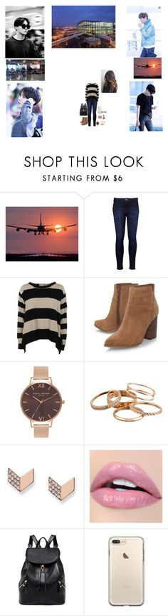 """Traveling With Hobi✈"" by tkyle134 ❤ liked on Polyvore featuring Seok, Levi's, STELLA McCARTNEY, Nine West, Olivia Burton, Kendra Scott, FOSSIL and Max Factor"
