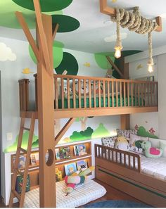 22 Imaginative Kids Jungle Room To Creative Explorer jungle imaginative explorer creative Baby Bedroom, Bedroom Wall, Girls Bedroom, Bedroom Decor, Kid Bedrooms, Wall Beds, 6 Year Old Boy Bedroom, 60s Bedroom, Cool Kids Rooms