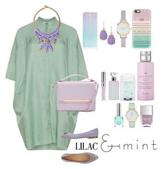 """""""Colorchallenge; Lilac&Mint"""" by enordahl ❤ liked on Polyvore featuring Calvin Klein, Lisa C Bijoux, Ted Baker, Kate Spade, New Look, Matthew Williamson, Natasha Accessories, Casetify, Chantecaille and Drybar"""