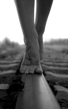 Voeltjies op haar voete