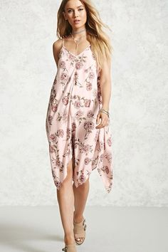 Floral Handkerchief Dress - Women - New Arrivals - 2000092199 - Forever 21 Canada English