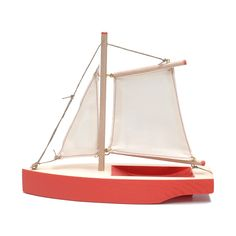 Wooden sailboat by Ogas Fabrik on @Monapart Barcelona Barcelona Barcelona Wooden Sailboat, Wooden Boats, Acoustic Panels, Wood Toys, Diy Toys, Kids Furniture, Handmade Wooden, Wood Projects, Woodworking