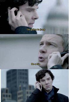 why am i laughing so hard? Probably Sherlock's face. The sherlock fandom- bored again lol
