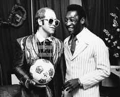 Elton John and Pele -  1976