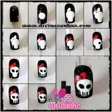 Skull Nail Designs, Halloween Nail Designs, Halloween Nails, Skull Nails, Get Nails, Easy Nail Art, Blog, Skulls, Tutorials