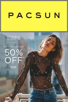 Pacsun store is offering Buy 1 Get 1 50% Off on Jeans, Tops and more For More See At:  http://couponspromocodez.com/store/pacsun-coupons/ #men #women #shirt #top #jean