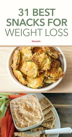 When you think of the best snacks for weight loss, you might assume a piece of celery is on the list. But who needs boring and bland when there are so many sensational recipes out there? This list features delicious options to curb your craving for processed chips and cookies, and fattening and sugary dips and candies. #skinnysnacks #weightlossfoods