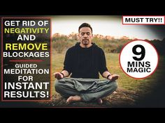 Most Powerful Guided Meditation to Get Rid of Negativity in Your Life and Instantly Remove Blockages Negative People, Negative Thoughts, Best Guided Meditation, Hypnotherapy, Get What You Want, Most Powerful, How To Stay Motivated, Love And Light, Super Powers