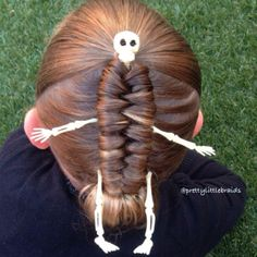 Amazing braids themed for Halloween.