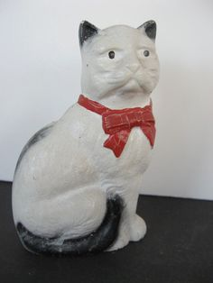 Old Cast Iron Toy Cat Bank *So excited to see this little baby; I found one at a consignment store. It is just about my favorite in my small collection*