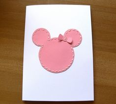 diy mickey mouse card