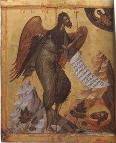 St John the Baptist Angel of the Desert; Athos, Monastery of Pantokrator