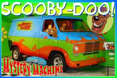 Scooby Doo Mystery Machineas seen in the kids cartoon is on display at the Volo Auto Museum, Volo, IL.  www.volocars.com