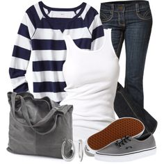 VANS Striped Top, created by wishlist123 on Polyvore