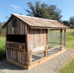 """""""BARN CHICKEN COOP""""  [Now they just need a little green and yellow John Deer chicken tractor.]"""