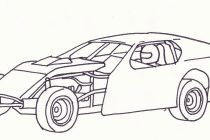 Dirt Car Coloring Pages Design