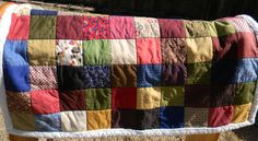 Country Prints Cotton and Fleece Throw $95.00 on Etsy