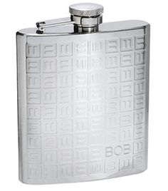 Domino Stainless Steel 8oz Flask
