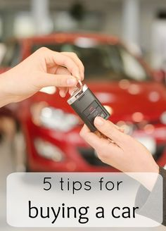 5 Tips for Buying a Car