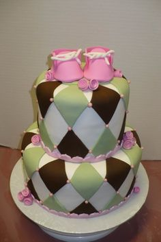 Baby Shower love this cake my colors for girl