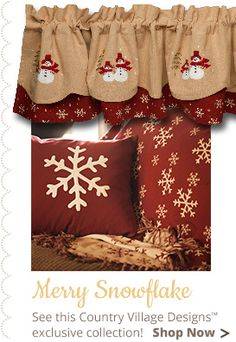 The Country Village Shoppe features Annalee Snowflake Throw from Raghu Exim.