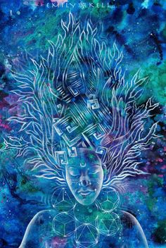 Racines Run Deep tapisserie avec art par Emily Kell par emkell